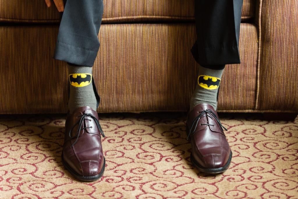 batman socks for groom