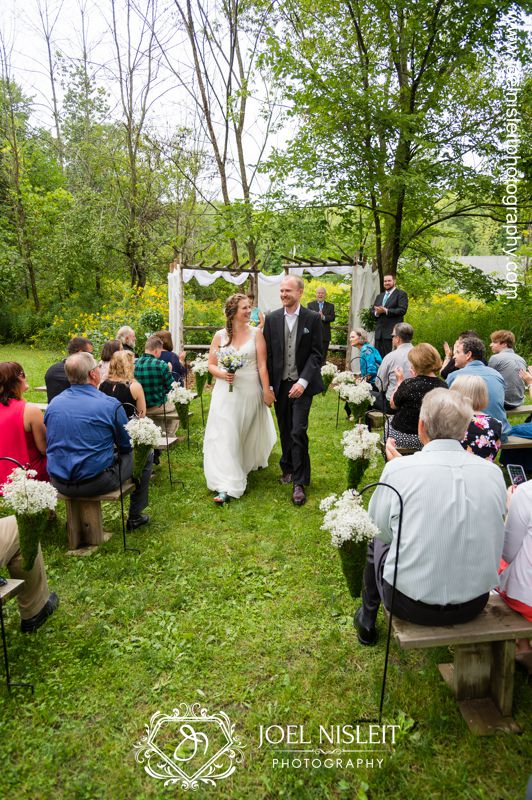 recessional outdoor wedding ceremony location riveredge nature center west bend wisconsin