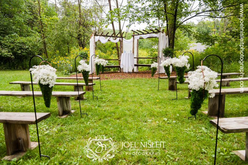outdoor wedding venues in west bend riveredge nature center ceremony chris ashley